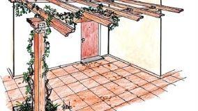 Pergole in legno per ombreggiare e caratterizzare lo spazio esterno