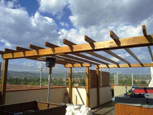 Pergola da terrazzo in legno - faraoni