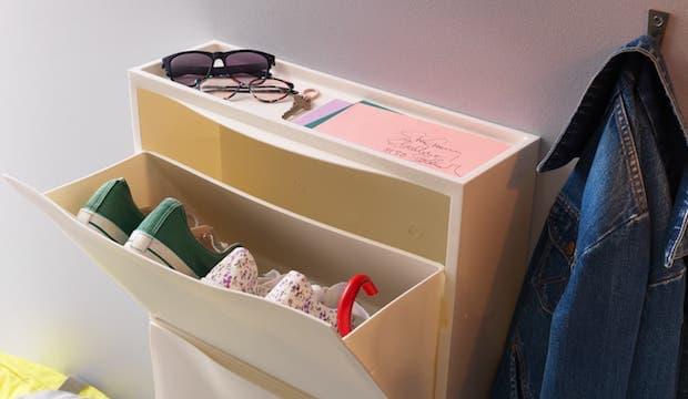 Scarpiera TRONES, vani a ribalta - Design e foto by Ikea
