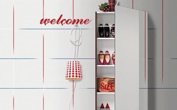 Scarpiera Welcome - Design e foto by Birex