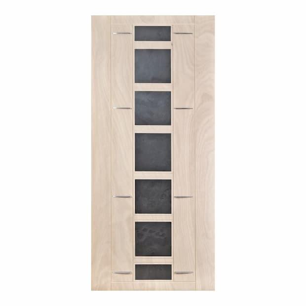 Porta in legno con inserti in ardesia Compraleporteonline.it