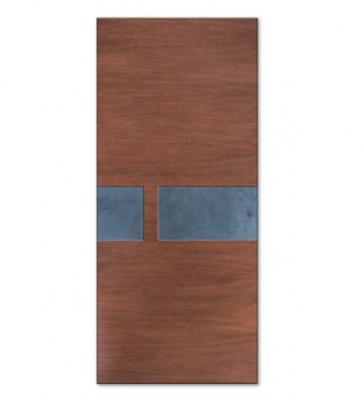 Pannello porta blindata in legno e ardesia di Compraleporteonline.it
