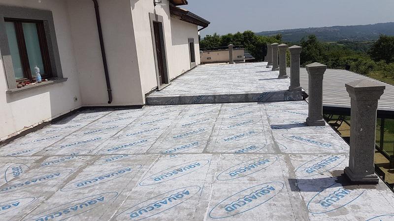Impermeabilizzazione terrazzo soluzioni Aquascud Volteco