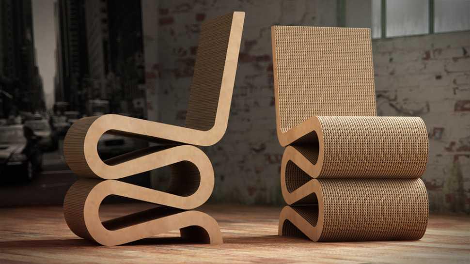 Wiggle chair, Frank O' Ghery