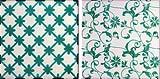 Mattonelle tradizionali di maiolica a motivi verdi by Hispalceràmica