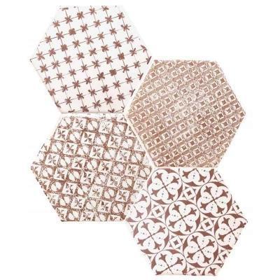 Piastrelle esagonali di maiolica in stile provenzale by Compotoir du Cérame