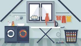Mobili e complementi per attrezzare un angolo lavanderia