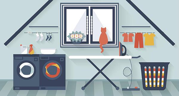 Una lavanderia domestica semplifica la gestione del bucato