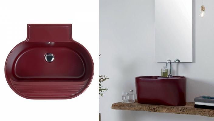 Lavabo-lavatoio sospeso Tino di Ceramiche Civita Castellana