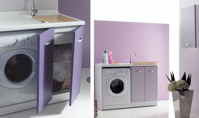 Mobile coprilavatrice con lavatoio Sfera di Ceramiche Civita Castellana