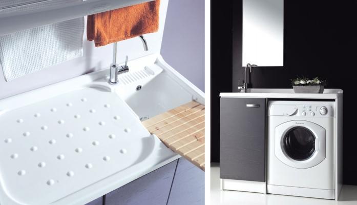 Mobile coprilavatrice con lavatoio Sfera by Ceramiche Civita Castellana