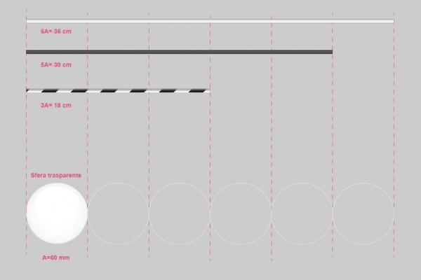 Giostrina Munari - dimensioni bacchette