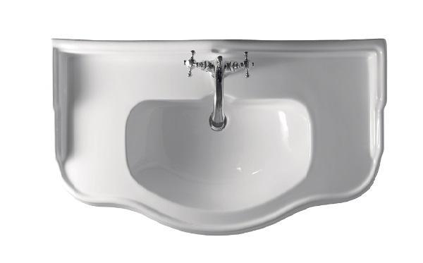 Kerasan, lavabo 100 per i sanitari bagno della serie Retrò