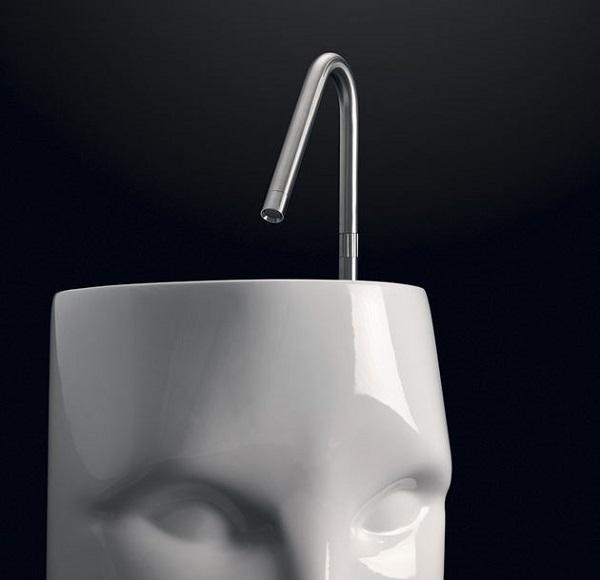 Lavabo Moloco, serie Artwork per completare i sanitari bagno di Kerasan