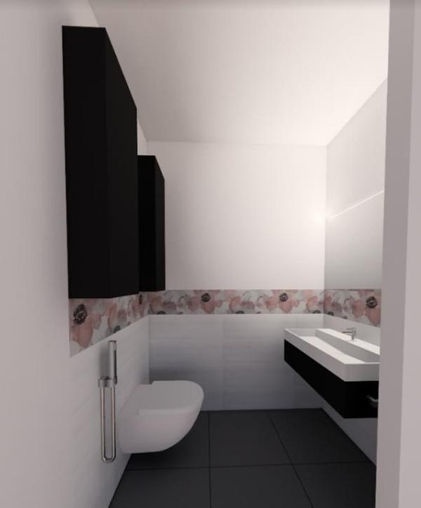 Camera da letto bagno in camera di progetto