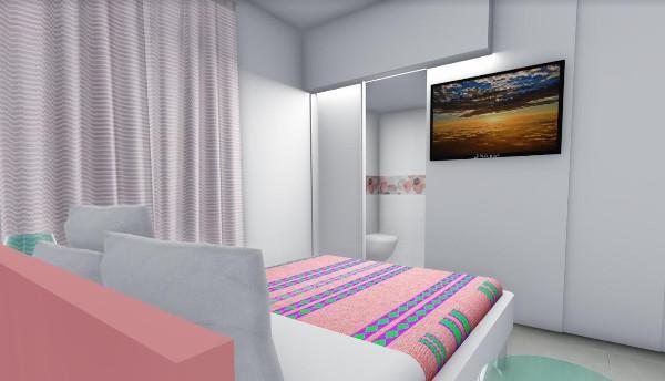 Camera letto rendering dell'idea progettuale
