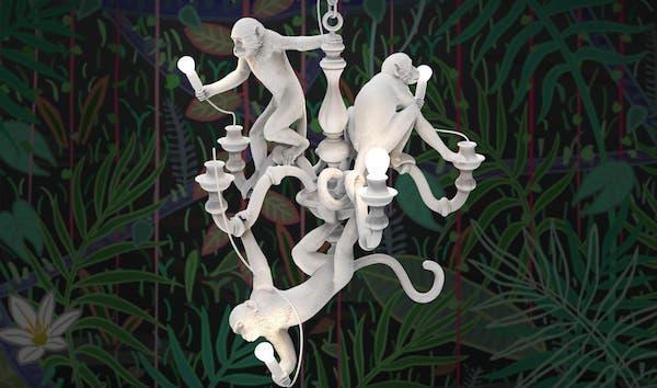 Monkey Lamp - Design e foto by Seletti e Marcantonio Raimondi Malerba