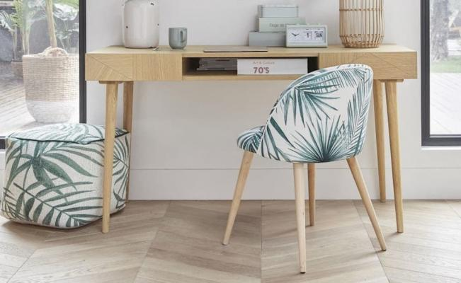 Sedia Mauricette e pouf coordinato - Design e foto by Maisons Du Monde