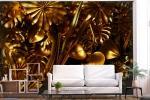Carta da parati Golden Jungle - Design e foto by Bimago
