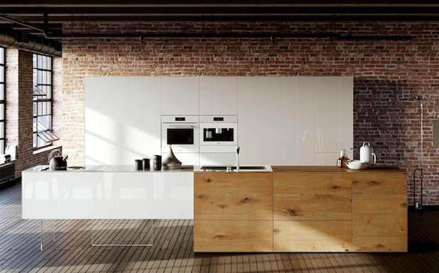 Cucina 36e8 Wildwood con isola - Design e foto by Lago