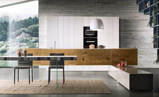 Cucina 36e8 Wildwood con penisola - Design e foto by Lago