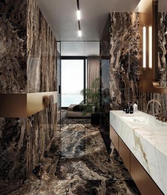 The Top, collection Grande: lastre Marble Look - Design e foto by Marazzi