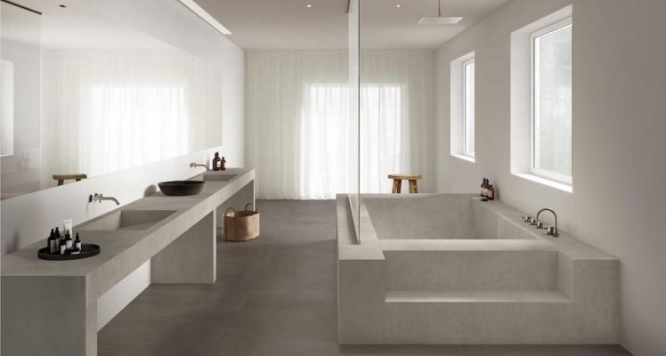 Lastre The Top Solid Color e Concrete Look - Design e foto by Marazzi