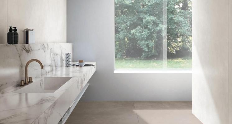 Lastre Concrete Look e Marble Look - Design e foto by Marazzi
