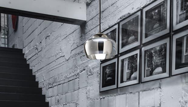Lampada a sospensione Cristallina - Design M. Romani e M. Saccani, foto by Vistosi