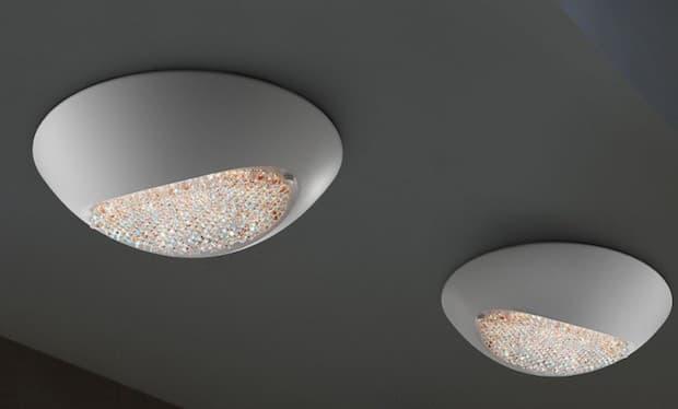Blink plafoniera in cristallo - Foto e design by M. Vivian e Masiero