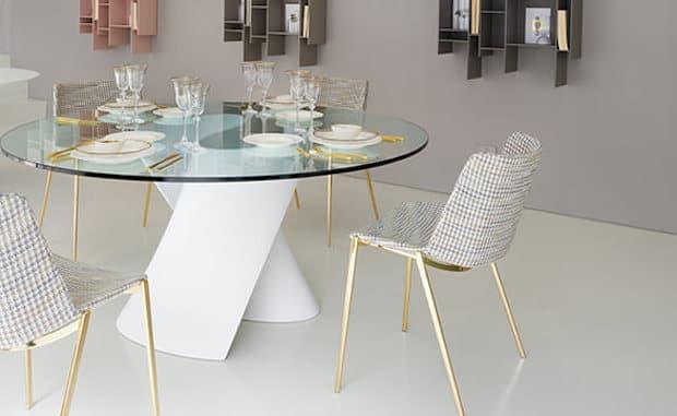 Tavolo in cristallo S Table - Design Xavier Lust, foto di MDF Italia