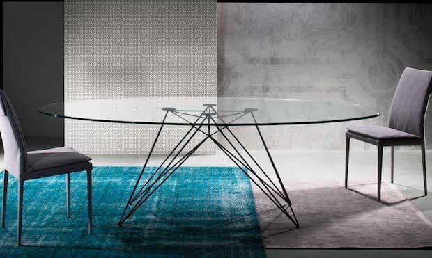 Tavolo in cristallo Pegaso - Design e foto by Riflessi