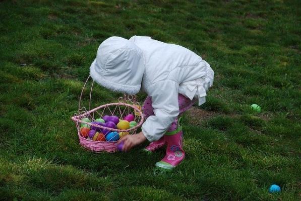 Caccia alle uova per bambini
