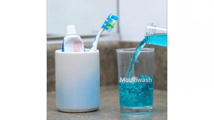Pulire oggetti spazzolino collutorio Blossom
