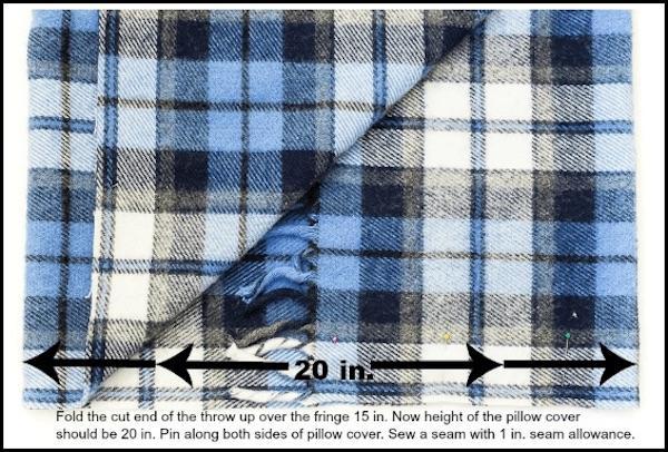 Riciclo coperte: federa per cuscino, parte 1, da onsuttonplace.com
