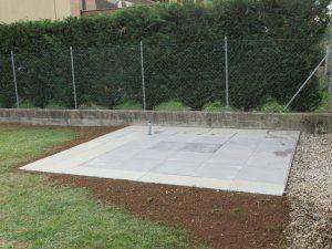 Soletta in cemento, abuso edilizio