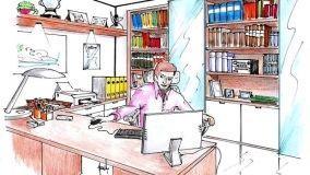 Progetto d'arredo per un funzionale ufficio in casa
