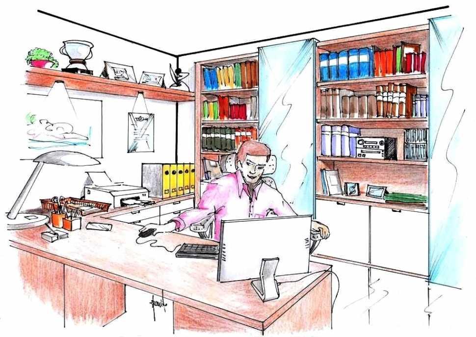 Ufficio in casa: disegno di progetto