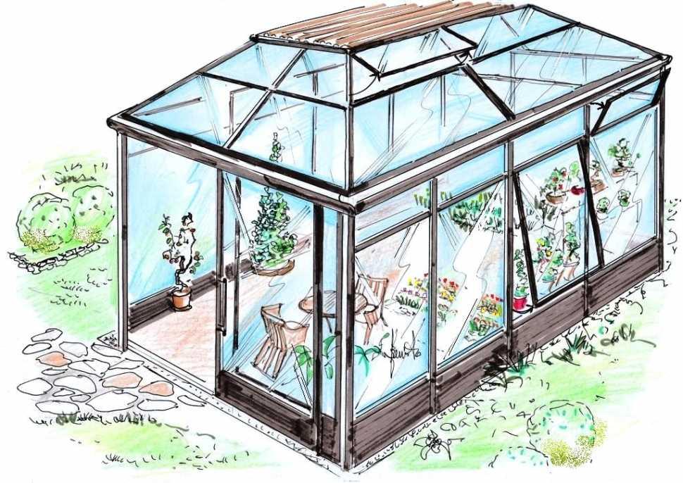 Giardino d'inverno - disegno di progetto