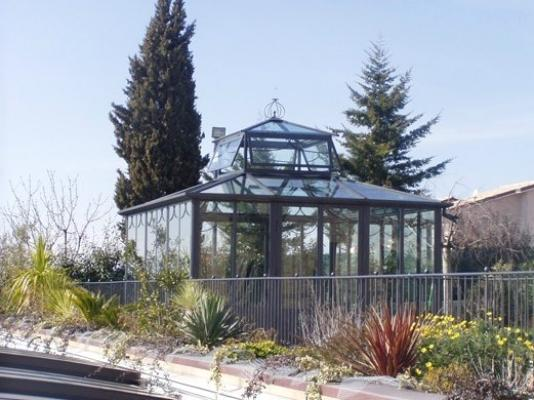 Garden struttura ferro e vetro Cagis
