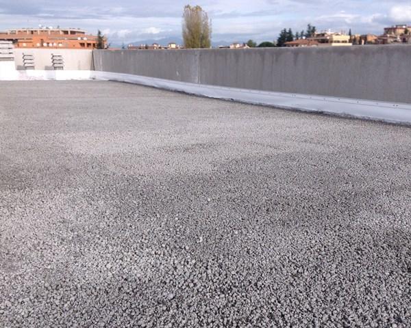 Protezione per tetto piano in argilla espansa di Leca