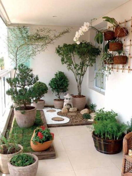 Giardino zen sul balcone - Fonte Pinterest