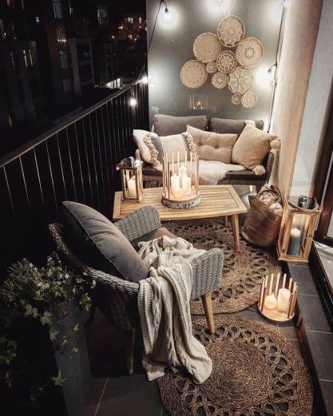 Angolo relax sul balcone - Fonte Pinterest