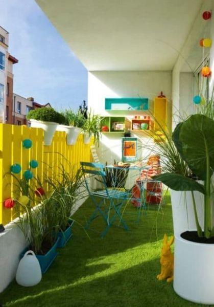 Balcone organizzato come parco giochi - Fonte Pinterest