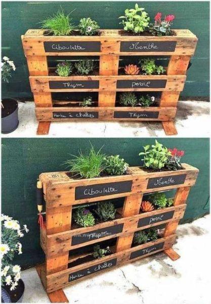 Pallets riutilizzati per l'orto - Fonte Pinterest