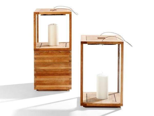 Lantern di Tribù in teak per luci soffuse di atmosfera
