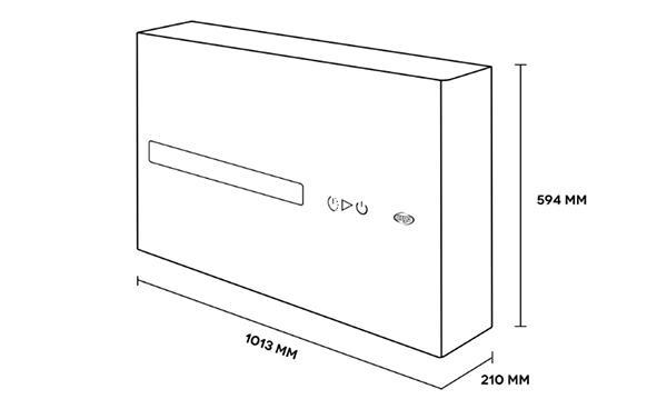 Dimensioni del condizionatore senza unità esterna Argo DD di Argoclima