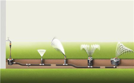 Posizionamento irrigatori