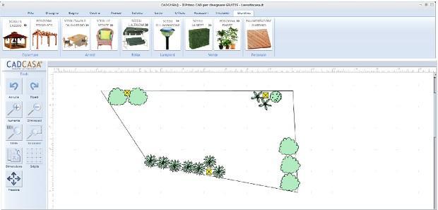 Schema impianto irrigazione giardino con CADCASA