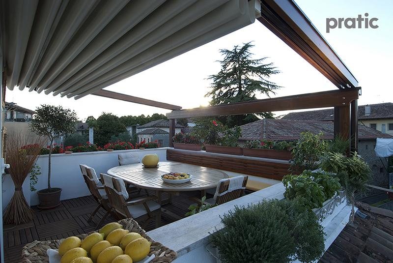 Pergola in legno per l'outdoor - Pratic